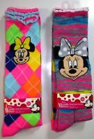 4 PAIRS DISNEY GIRLS MINNIE MOUSE MULTICOLOR KNEE HIGH SOCKS SIZE 6-8 L258