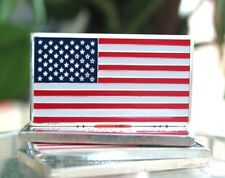 1 oz ounce U.S. United States of America Flag 100 Mills .999 Silver Plated Bar