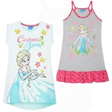 Girls Kids Disney Frozen Cotton Nightie Nighty Nightdress Pjs Age 2 3 4 5 6 7 8