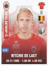 028 RITCHIE DE LAET # BELGIQUE ROYAL ANTWERP STICKER PRO LEAGUE 2020