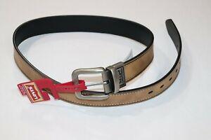 Levi's Men's Creased Stitched Reversible Casual Belt Tan/Black Size M 34-36