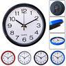 Modern Round Wall Clock Quartz Silent Sweep Movement Home Bedroom Clocks