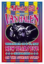 David Lee Roth & Van Halen at The Whisky A Go Go Concert Poster Circa 1977