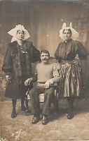 Carte photo ancienne rare photo sablaises  en costume et coiffe Vendée