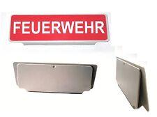 Klemmschild Einsatzschild FEUERWEHR Schild für Sonnenblende - Neu m. Garantie