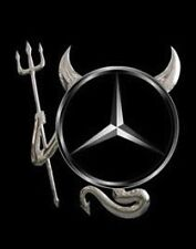 3D Chrome Devil Decal Car / Truck Custom Demon Stickers W/ Horns for MERCEDES