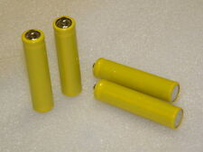 Dummy battery AAA x 4 pcs light weight conducts electricity plain yellow sleeve