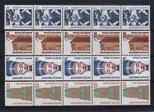 Bund 1347/48 +1374/75 Fünferstreifen postfrisch .......