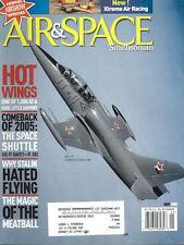 AIR & SPACE MAY 05 USN AIRCRAFT CARRIER LANDING / WW2 VIP TRANSPORT AIRCRAFT