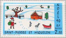 ST. PIERRE MIQUELON SPM 1990 607 553 Christmas Weihnachten Religion Painting MNH
