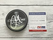 Alex Goligoski Signed 2009 Pittsburgh Penguins Stanley Cup Puck PSA/DNA COA b