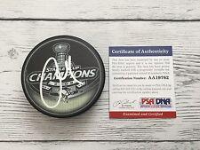 Alex Goligoski Signed 2009 Pittsburgh Penguins Stanley Cup Puck PSA/DNA COA b