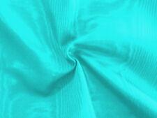 4 Yds-Awesome AQUA TURQUOISE POOL BLUE Light Weight MOIRE TAFFETA Fabric