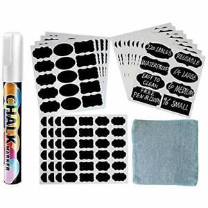 Chalkboard Labels 220pcs Removable Waterproof Reusable Chalk Board Stickers