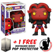 FUNKO POP VINYL MARVEL RED SHE-HULK SDCC 2017 EXCLUSIVE + FREE POP PROTECTOR