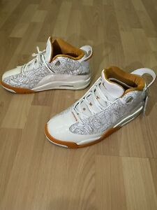 Nike Air Jordan Ceramic Orange White Patent Leather Shoes Dub Zero Men size 8.5