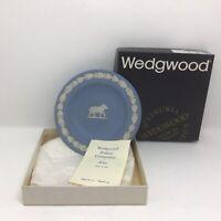 "Wedgwood ""Aries The Ram"" Zodiac Compotier Blue Jasperware Pin Dish Boxed 🎁🎁"