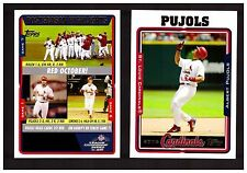 2005 Topps ST. LOUIS CARDINALS Team Set with Updates 52 Cards