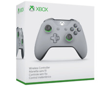 Genuine Microsoft - Xbox Wireless Controller - Gray and Green - WL3-00060