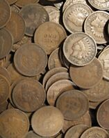 FREE SHIP! Roll Of 50 Coins Indian Head Cents - GOOD PLUS- No Cull- Mixed Dates