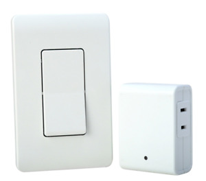 Woods 59773WD Indoor Wireless Remote with Wall Switch, 1 Polarized Outlet