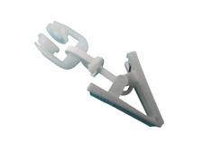 50 stk T Rollringe mit Drehbarer Klammer 9mm Gardinenröllchen KE 0940