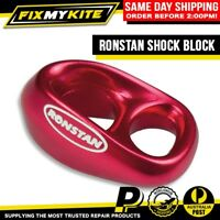 RONSTAN SHOCK RED SHEAVELESS BLOCK SAIL COVER ZIPPER LINE KITEBOARD KITE BRIDLE