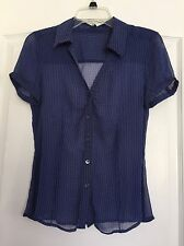 The Limited Woman's 100% Silk Sheer Blouse - Medium NWOT