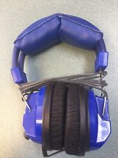 HamiltonBuhl Kids Blue Deluxe Stereo Headphone with 3.5mm Plug and Volume Cont