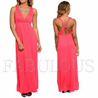Sexy A Line Maxi Dress Size M S XS 6 8 10 Hot Sleeveless Summer Party Evening