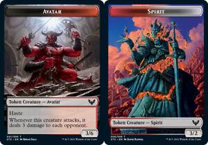 1x Avatar (001) // Spirit (006) Token - FOIL MTG Strixhaven: School of Mages NM