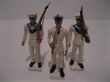 Aohna Miniature Navy Figure Lot of 3 Swordsman & Riflemen Made in Greece