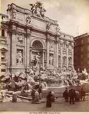 Brogi. Italie, Roma, Fontana di Trevi Vintage albumen print  Tirage albuminé