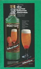 HOLLAND HOUSE Whiskey Sour Mix 1982 Vintage Print Ad # 161 8