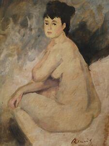 Pierre Auguste Renoir, painting, signed ,origin known, COA, tempera, Gogh era