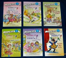Fancy Nancy:  Lot of  6  NEW  I Can Read Books:  Apples, Luck, Pajama Day 3 MORE