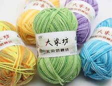 DIY Chunky Hand-woven Milk Soft Cotton Knitting Scores wool yarn 1 Ball x 50g