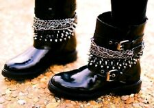 RARE SOLD OUT ZARA spike chain boots 38 UK 5 RRP 199 € Neuf Box