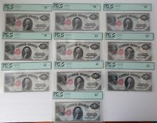 10 Large Size $1 Notes, Series of 1917 w/CONSECUTIVE SERIAL Numbers~~PCGS Graded