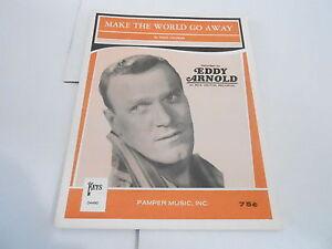 1963 vintage NOS sheet music MAKE THE WORLD GO AWAY - EDDY ARNOLD