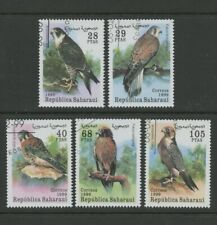 Falcons Birds of Prey set of 5 cto stamps Republica Saharaui
