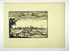 YPERN YPRES FLANDERN BELGIEN KUPFERSTICH ANSICHT KARTE BEAULIEU 1665 #D857S