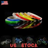 Reflective Stickers Hi Vis Viz Safety Car Bicycle Cycling DIY 8M Reflector Tape