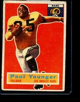 1956 TOPPS #18 PAUL YOUNGER RAMS VG D026155