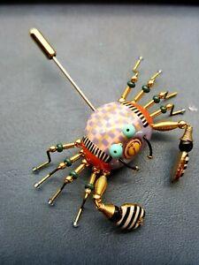 Cynthia Chuang 10 Ceramic Crab Stick Pin