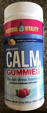Natural Vitality CALM Gummies Anti-Stress Relaxing Magnesium 120 Ct Exp 7/2019