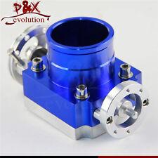 60mm 2.36'' Aluminum Throttle Body Intake Manifold Universal VQ35TPS Billet Blue