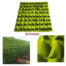 Hanging Planting Bags Outdoor Wall Vertical Green Felt Planter Bag 36 Pockets GA