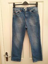 Miss Selfridge Womens Blue Denim Straight Leg Jeans Size 10 Leg 25 inches