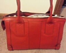 FOSSIL GWEN MEDIUM SATCHEL CRIMSON LEATHER BAG-MSRP
